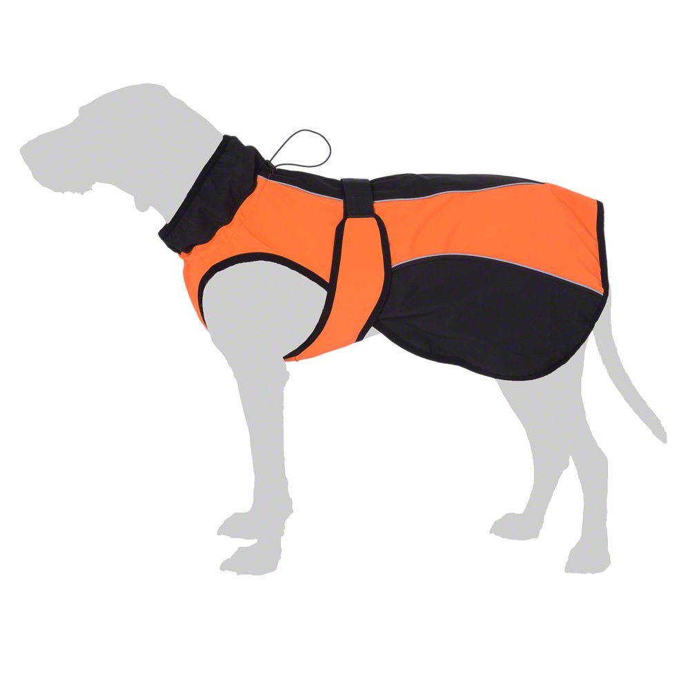 Soft Shell Dog Coat - Orange - approx. 30cm Back Length