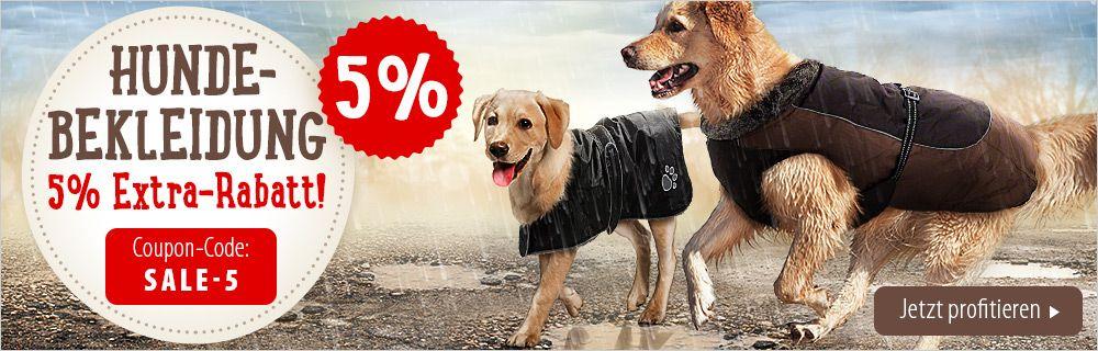 5% Extra-Rabatt auf Hundebekleidung - jetzt sichern!