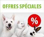Offres promotionnelles pour animaux