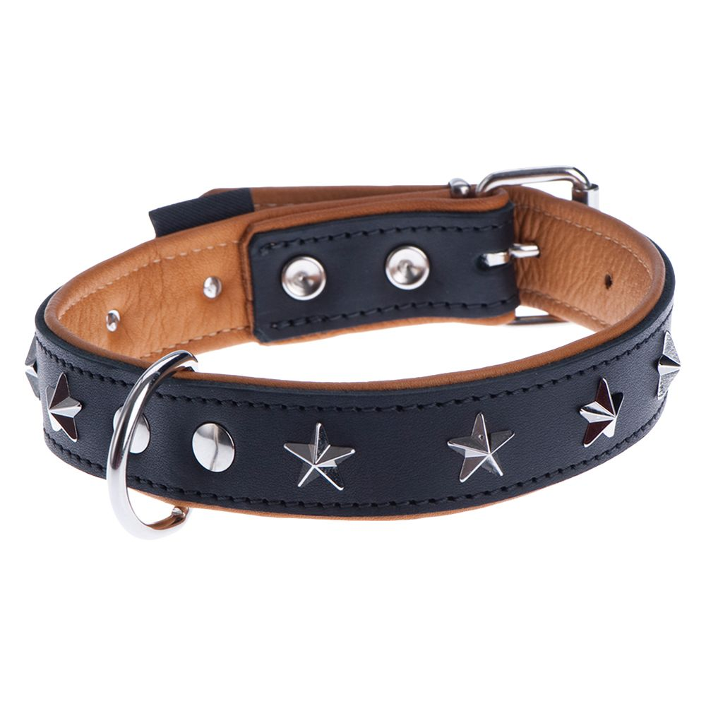 Heim Leather Dog Collar - Stars - Size 50