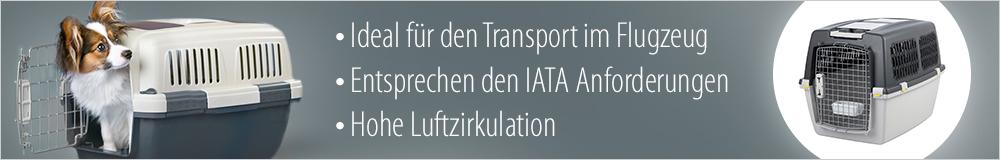 Bei zooplus die richtige Transportbox für einen sicheren Flug finden!