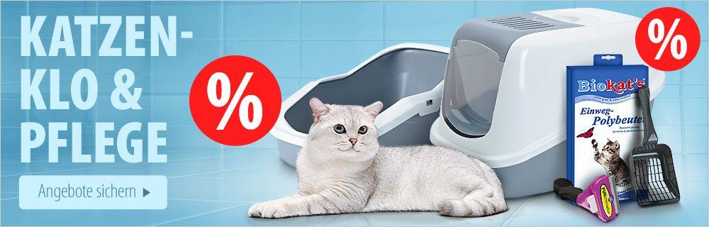 Jetzt unsere Katzenklo und -pflege Angebote entdecken!