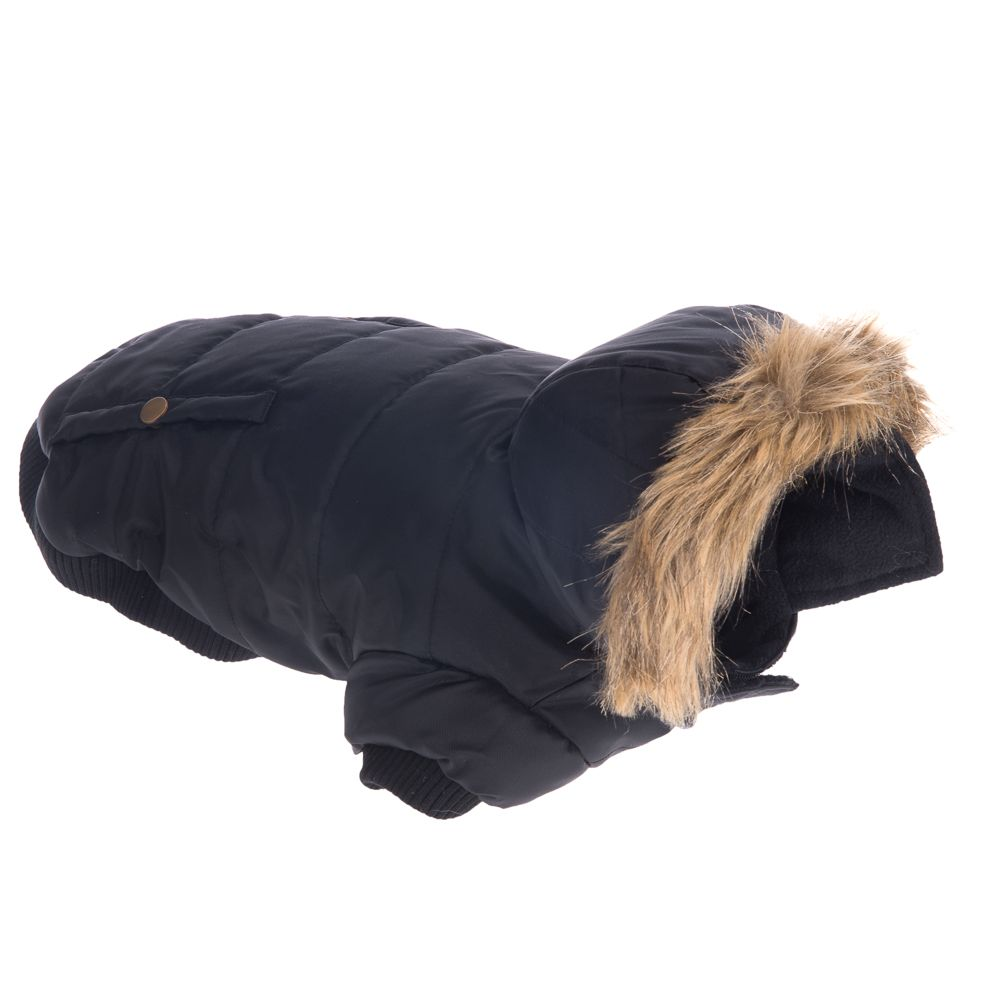 Milan Dog Coat - Black - approx. 40cm Back Length