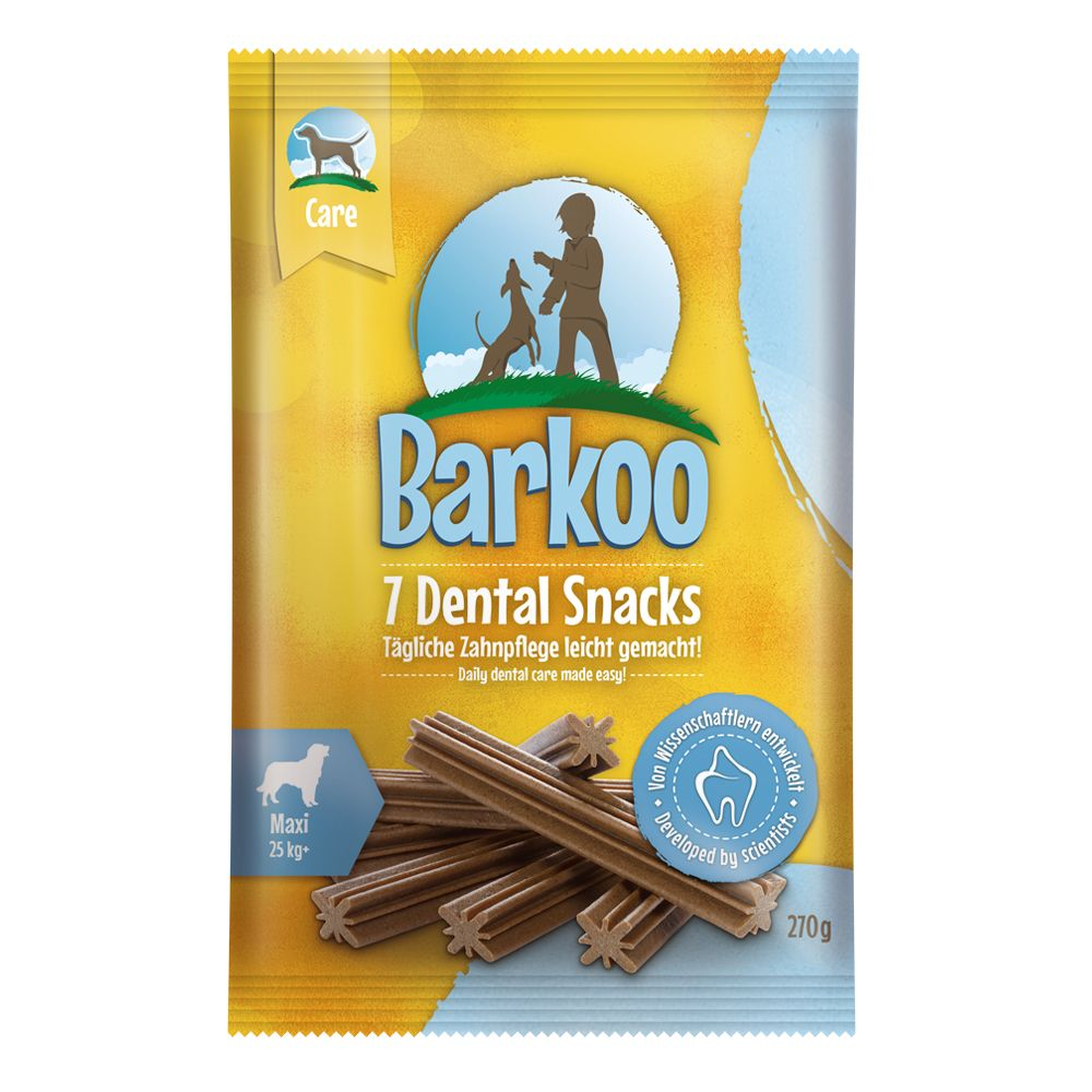 Barkoo Dental Snacks Saver Packs - Mini Dogs (56 Chews – 8 x 120g)