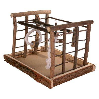 aire de jeu en bois pour perruche natural living. Black Bedroom Furniture Sets. Home Design Ideas