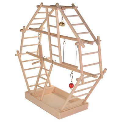 aire de jeu pour oiseaux chelles en bois grand mod le prix avantageux chez zooplus. Black Bedroom Furniture Sets. Home Design Ideas