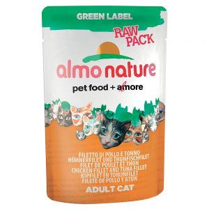 Almo Nature Green Label Raw In Pouches 6 X 55g At Discount
