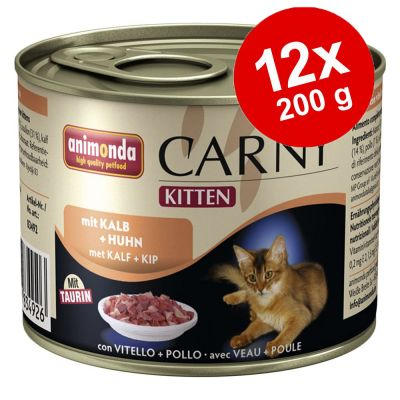 set risparmio cibo umido per gattini animonda carny kitten. Black Bedroom Furniture Sets. Home Design Ideas