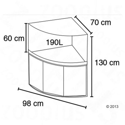 fluval venezia 190 aquarium d 39 angle zooplus. Black Bedroom Furniture Sets. Home Design Ideas