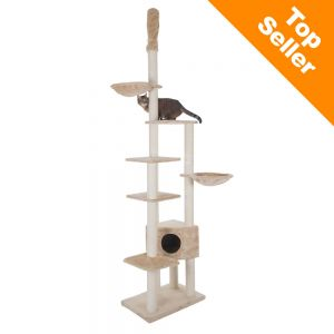 Cat Atlas Tree on cardboard cat scratching pads