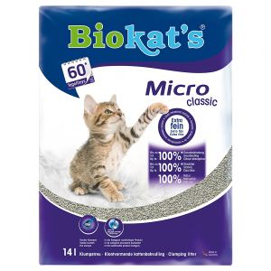 biokat 39 s micro cat litter free p p on orders 29 at zooplus. Black Bedroom Furniture Sets. Home Design Ideas