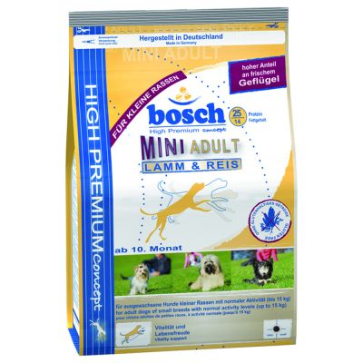 great deals on bosch dry dog food at zooplus bosch adult mini lamb rice. Black Bedroom Furniture Sets. Home Design Ideas