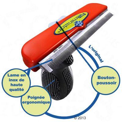 furminator poils longs xl brosse pour chien zooplus. Black Bedroom Furniture Sets. Home Design Ideas