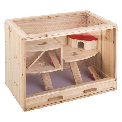cage en bois pour hamster souris et rat zooplus. Black Bedroom Furniture Sets. Home Design Ideas