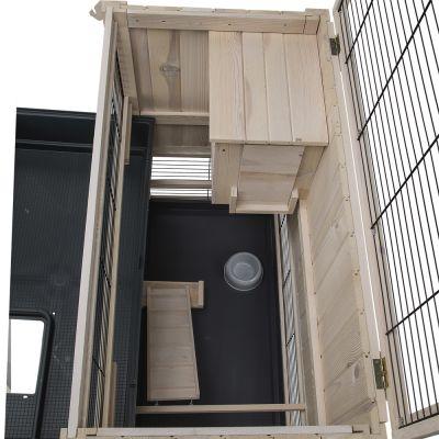 ferplast cottage en bois cage pour lapin et cochon d. Black Bedroom Furniture Sets. Home Design Ideas