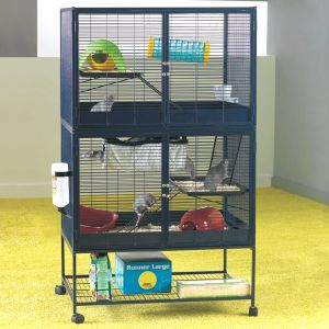 savic suite royal 95 double cage pour rat et furet zooplus. Black Bedroom Furniture Sets. Home Design Ideas