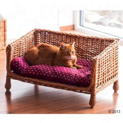 Aum ller canap en osier pour chat zooplus for Canape osier