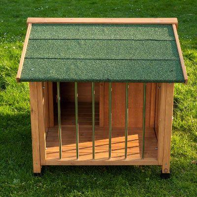 Caseta de madera sylvan special para perros for Caseta madera terraza