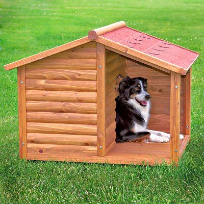 Caseta trixie natura con terraza para perros - Casetas para perro ...