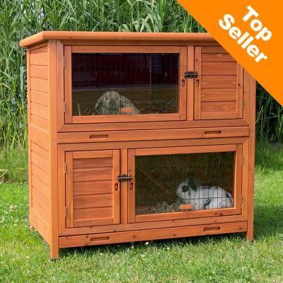 Natura 2 en 1 avec isolation thermique clapier pour for Cage exterieur pour lapin pas cher
