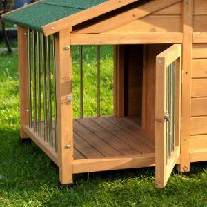 Cuccia per cani in legno trattato con terrazza coperta e - Casetas de madera para terraza ...