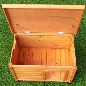 Cuccia per cani in legno trattato con tetto piano apribile - Cuccia per gatti da esterno fai da te ...