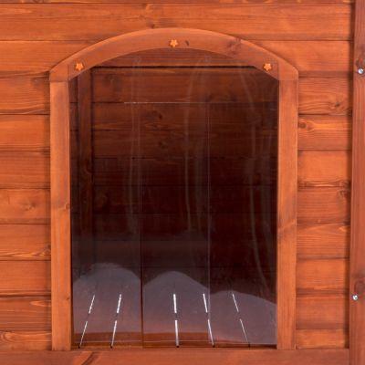 Cuccia per cani Woody Premium con tetto piano