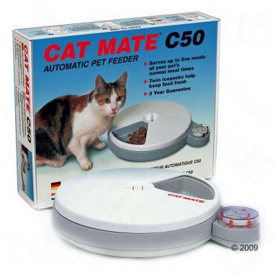 distributeur de nourriture pour chat cat mate c 50. Black Bedroom Furniture Sets. Home Design Ideas
