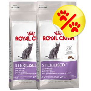 dobbeltpakke royal canin sterilised 37. Black Bedroom Furniture Sets. Home Design Ideas