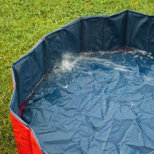 Gioco piscina da giardino per cane 80 x h 20 cm omaggio for Piscina x cani milano