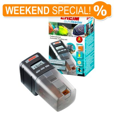 Eheim autofeeder free p p on orders 29 at zooplus for Weekend fish feeder