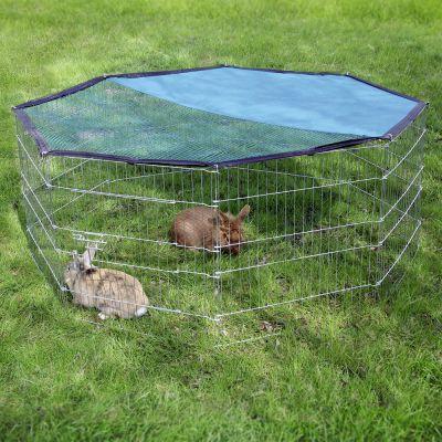 Enclos octogonal en m tal pour rongeur et lapin zooplus - Enclos a lapin ...