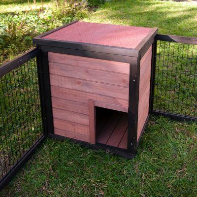 enclos pour rongeur et lapin outback grande avec maisonnette prix avantageux chez zooplus. Black Bedroom Furniture Sets. Home Design Ideas