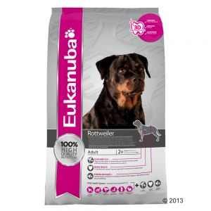 eukanuba breed rottweiler croquettes pour chien zooplus