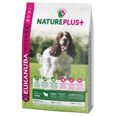 Eukanuba NaturePlus+ Adult Medium Dog Lam Hondenvoer