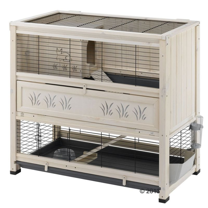 Ferplast wooden cage cottage at zooplus for Cage lapin exterieur