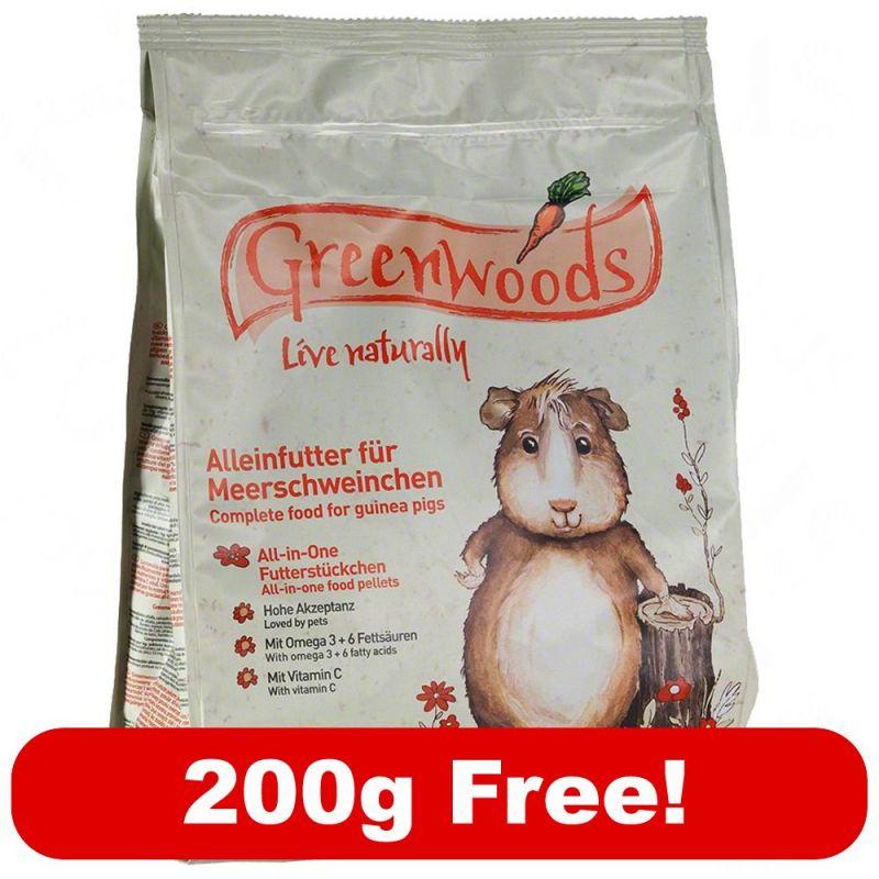 800g Greenwoods Guinea Pig Food 200g Free Free P P On