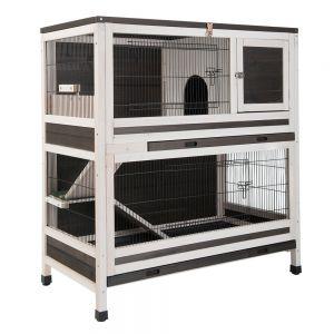Gabbia per cavie conigli porcellini d 39 india a 2 piani in for 1 1 2 piani di cottage storia
