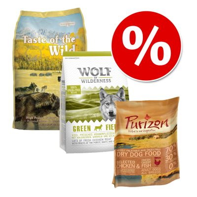 Graanvrij probeerset: Taste of the Wild, Purizon & Wolf of Wilderness