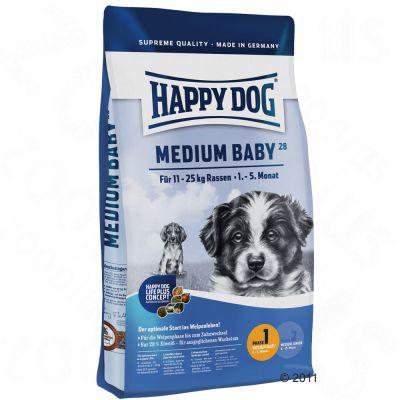 happy dog supreme young medium baby faza 1 karma dla psa tanio w zooplus. Black Bedroom Furniture Sets. Home Design Ideas