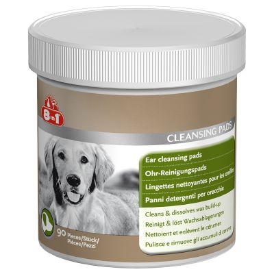 8in1 čistící polštářky na uši pro psy