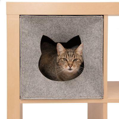 kattenbedden en kattenkussens goedkoop bij zooplus kattenhol uit vilt voor opbergkast. Black Bedroom Furniture Sets. Home Design Ideas