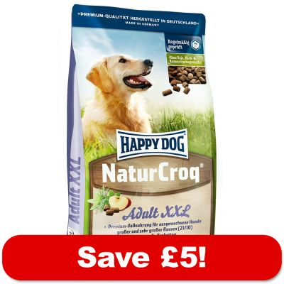 15kg happy dog natur croq dry dog food 5 off. Black Bedroom Furniture Sets. Home Design Ideas