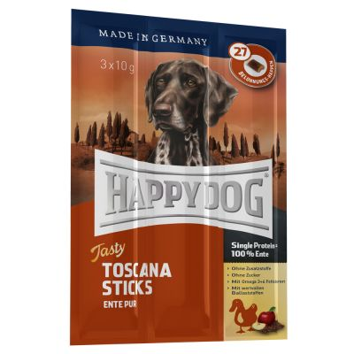 4kg Happy Dog Supreme Dry Food 3 X Toscana Tasty Sticks
