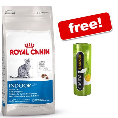 10kg Royal Canin Dry Cat Food Cosma Snackies Free