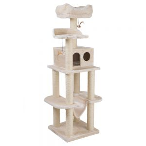 Cat Tree La Digue Beige At Discount Prices At Bitiba Co Uk