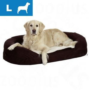 Letto ovale karlie orthobed marrone l per cani risparmia con bitiba - Letto karlie orthobed ovale ...
