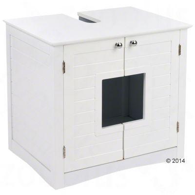 meuble sous lavabo maison de toilette pour chat zooplus. Black Bedroom Furniture Sets. Home Design Ideas