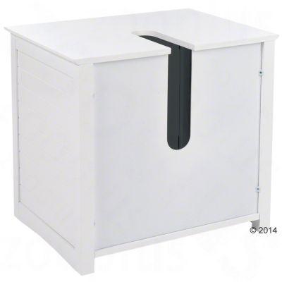 Meuble sous lavabo maison de toilette pour chat zooplus for Meuble toilette lavabo