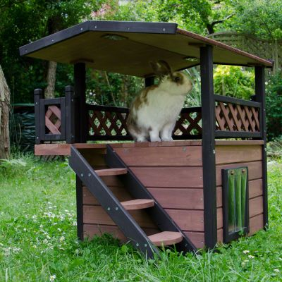 Maisonette cat house great deals on outdoor cat house for Cabane a lapin exterieur